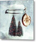 Christmas Tree Snowglobe Metal Print