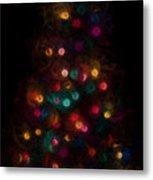 Christmas Tree Splatter Paint Abstract Metal Print
