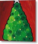 Christmas Tree Twinkle Metal Print