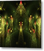 Christmas Trees Pattern Metal Print