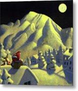 Christmas Under Olympus Metal Print