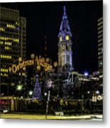 Christmas Village - Philadelphia Metal Print
