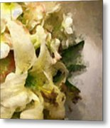 Christmas White Flowers Metal Print