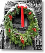 Christmas Wreath Metal Print