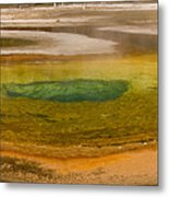 Chromatic Pool At Yellowstone Metal Print