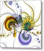 Chromatic Shrimp Metal Print by David April