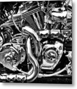 Chrome And Skulls Metal Print