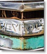 Chrome Chevrolet Metal Print