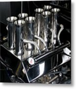 Chromed Fuel Injection Metal Print