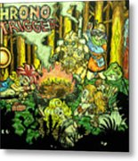 Chrono Trigger Campfire Metal Print by Paul Tokach