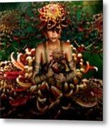 Chrysanthemum Bouquet 004 Metal Print