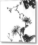 Chrysanthemum With Stone Metal Print