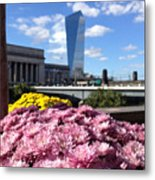 Chrysanthemums And Cirrus  Metal Print