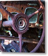 Chrysler Airflow Dashboard Painterly Impression Metal Print