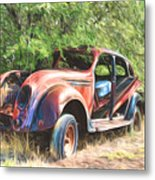Chrysler Airflow Painterly Expression Metal Print