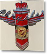 Chrysler Hood Logo Metal Print