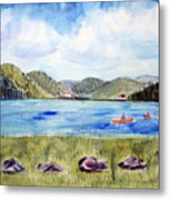 Chrystal Lake  Barton Vt  Metal Print
