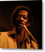 Chuck Berry Gold Metal Print