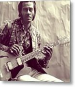Chuck Berry, Music Legend Metal Print