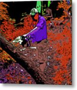 Chuck Chainsaw 2 Metal Print