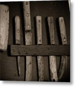 Chuck Wagon Knives Metal Print