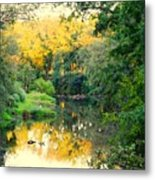 Chunky River Reflections Metal Print