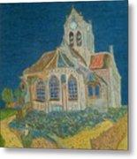 Church At Auvers Metal Print