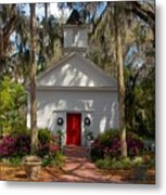 Church At Micanopy Metal Print