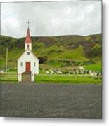 Church At Vik I Myrdal Iceland Metal Print