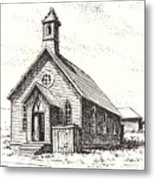 Church Bodie Ghost Town California Metal Print