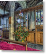 Church Christmas Tree Metal Print