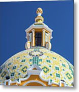 Church Dome And Blue Sky Metal Print