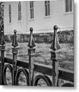 Church Fence Metal Print