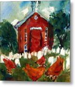 Church Hens Metal Print