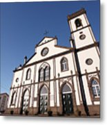 Church In Azores Islands Metal Print
