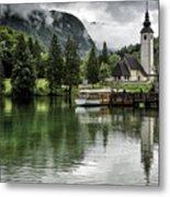 Church In Julian Alps Slovenia Metal Print