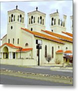 Church In New Mexico Multiplied Metal Print
