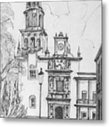 Church In Queretaro, Mx Metal Print