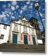 Church In Ribeira Grande Metal Print