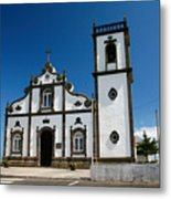Church In The Azores Metal Print