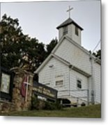 Church In The Country Metal Print