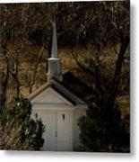 Church In The Garden Metal Print
