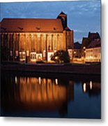 Church Of Our Lady On Sand In Wroclaw By Night Metal Print