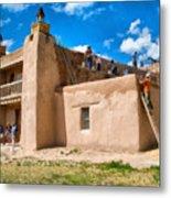 Church Of San Jose De Gracia In Las Trampas New Mexico Metal Print