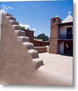 Church Of Taos Pueblo New Mexico Metal Print