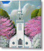 Church Of The Dogwoods Metal Print