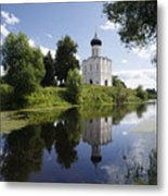 Church Of The Intercession On The Nerl Metal Print