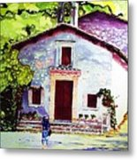 Church Of The Roses Italy Metal Print