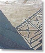 Church Shadow Steps Metal Print