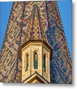 Church Spire Details - Romania Metal Print